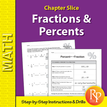 Fractions & Percents: Step-by-Step Instructions & Drills