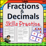 5NBT 5NF Fractions, Decimals, and Percentages Homework and Tests or Morning Work