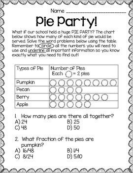 Pi Day Fractions Worksheets