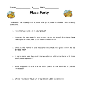 Fractions Pizza Party
