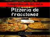Fractions Pizzeria in Spanish