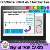 Fractions: Points on a Number Line Digital Task Cards