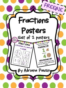 Fractions Posters FREEBIE