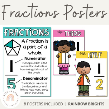 Fractions Posters {Rainbow Theme}