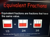 Fractions Power Point, Equivalant, Mixed Fractions, and Improper Fractions