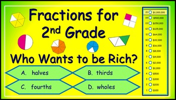 Fractions Power Point Millionaire Game - 2nd Grade