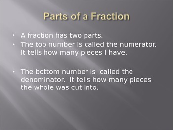 Fractions Power Point Presentation