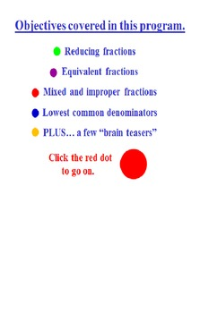 Fractions Powerpoint Preview Fun Quiz