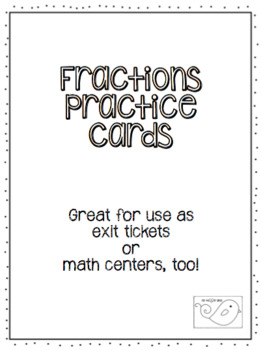 Fractions Practice Cards