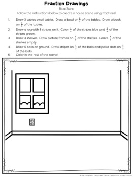 Fun Fraction Activity - No Prep Fraction Art (Drawing Pictures)