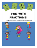 Fractions Practice Pack! 31 pages of Common Core Aligned a