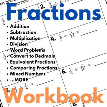 Fractions Practice Workbook