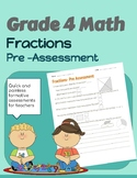 Fractions Pre Assessment- Grade 4 Alberta