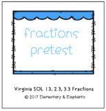 VA SOLS: 2nd Grade Fractions Pretest