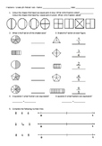 Fractions Pretest  / Posttest - Grades 3 and 4