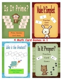 Fractions, Prime Numbers, Centers: Math Card Games
