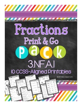 Identifying Fractions  - 3rd Grade - 3.NF.A.1