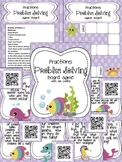 Fractions Problem Solving Board Game with QR Codes
