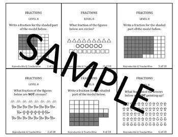 Fractions Problem Solving Task Cards: Level 10 Fractional