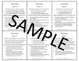 Fraction Problem Solving Task Cards: Level 14 Accurate / Inaccurate Statements