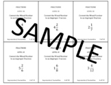 Rational Number Problem Solving Task Cards: Level 15 Convert Mixed Numbers