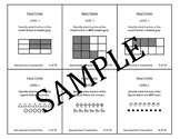Fraction Problem Solving Task Cards: Level 1 Fractional Parts of Whole