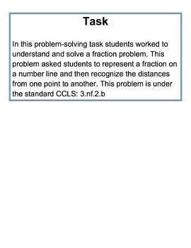 Fractions Problem Solving Task
