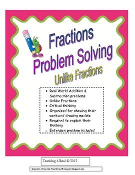 Fractions Problem Solving: Unlike Denominators