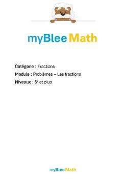 Fractions - Problèmes - Les fractions -6e et plus