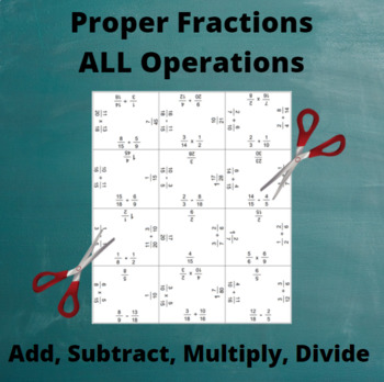 Fractions Puzzle: All Operations