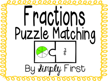 Fractions: Puzzle Matching