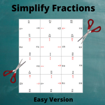 Fractions Puzzle: Simplify (Easy)