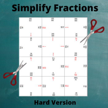 Fractions Puzzle: Simplify (Hard)