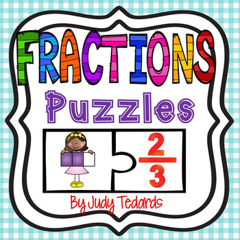 Fractions Puzzles (1/2 to 10/10 Fractions)