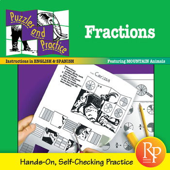 Fractions: Self-Checking Puzzles & Hands-On Practice