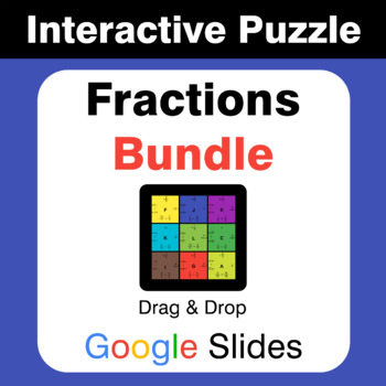 Fractions Puzzles with GOOGLE Slides Bundle