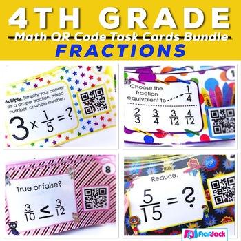 Fractions QR Code Fun Bundle - 4th Grade CCSS Alignment