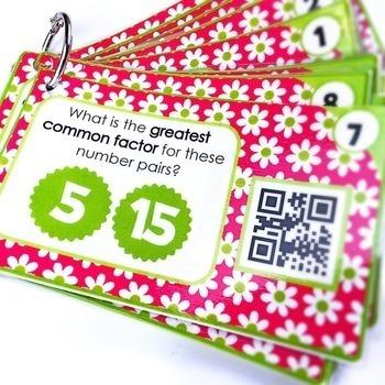Fractions QR Code Task Card Bundle - 4th Grade CCSS Alignment
