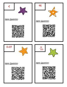 Fractions QR Code Scavenger Hunt - Fourth Grade Common Core Math NF