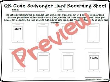 Fractions QR Code Scavenger Hunt