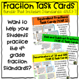 Fractions QR Task Card Bundle (4.NF.1-7)