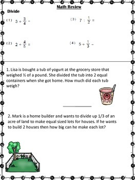Fractions Quick Check