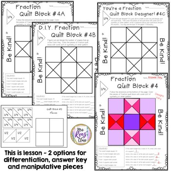 fractions quilt blocks fraction coloring fun with character ed reminders. Black Bedroom Furniture Sets. Home Design Ideas