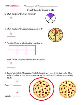 Fractions Quiz 1