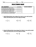 Fractions Quiz: Adding, Subtracting, Multiplying, Dividing