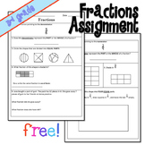 Fractions Assessment - Equal Parts, Equivalent, and Comparing Fractions