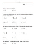 Fractions Quiz to Supplement Eureka Math Module 5 4th Grade