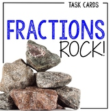 24 Fraction Problem Solving Task Cards with Single and Multi-step Story Problems