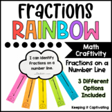 Fractions Rainbow Craftivity for Fractions on a Number Line