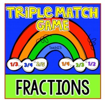 Fraction Triple Match Game Rainbow
